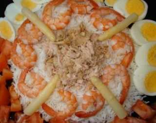 Ensalada de arroz y gambas Recetas Saludables