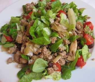 Ensalada de carne picada Recetas Saludables