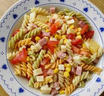 Ensalada de espaguetis Recetas Saludables