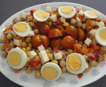 Ensalada de garbanzos fresca Recetas Saludables