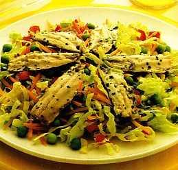 """Ensalada tibia de sardinas frescas (Receta del restaurante """"Florián"""") Recetas Saludables"""