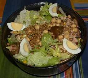 Garbanzos y lentejas en ensalada Recetas Saludables