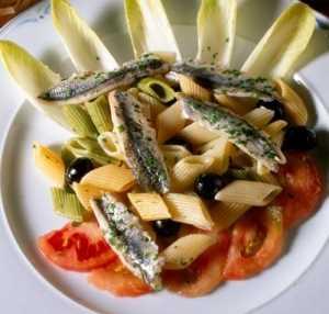 Macarrones con anchoas Recetas Saludables