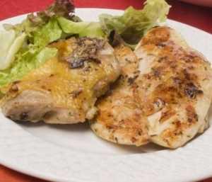 Pollo con grosellas Recetas Saludables