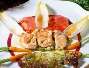 Ensalada de endibias con pollo Recetas Saludables