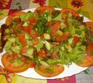 Lechuga con tomates Recetas Saludables