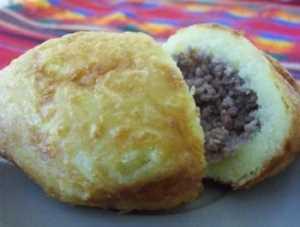 Fritos de papas rellenas con carne Recetas Saludables