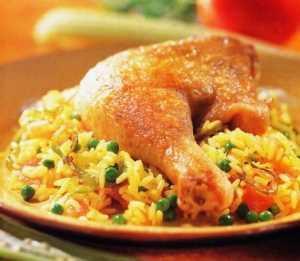 Pollo con arroz Recetas Saludables