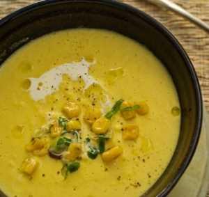 Sopa de Crema de Choclos Recetas Saludables
